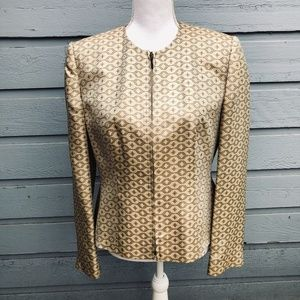 Nicola Vintage Gold Zippered Blazer